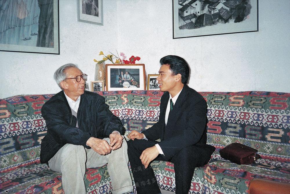 1997年陈博洲作客于中国美协党组书记、常务副主席王琦(左)家中